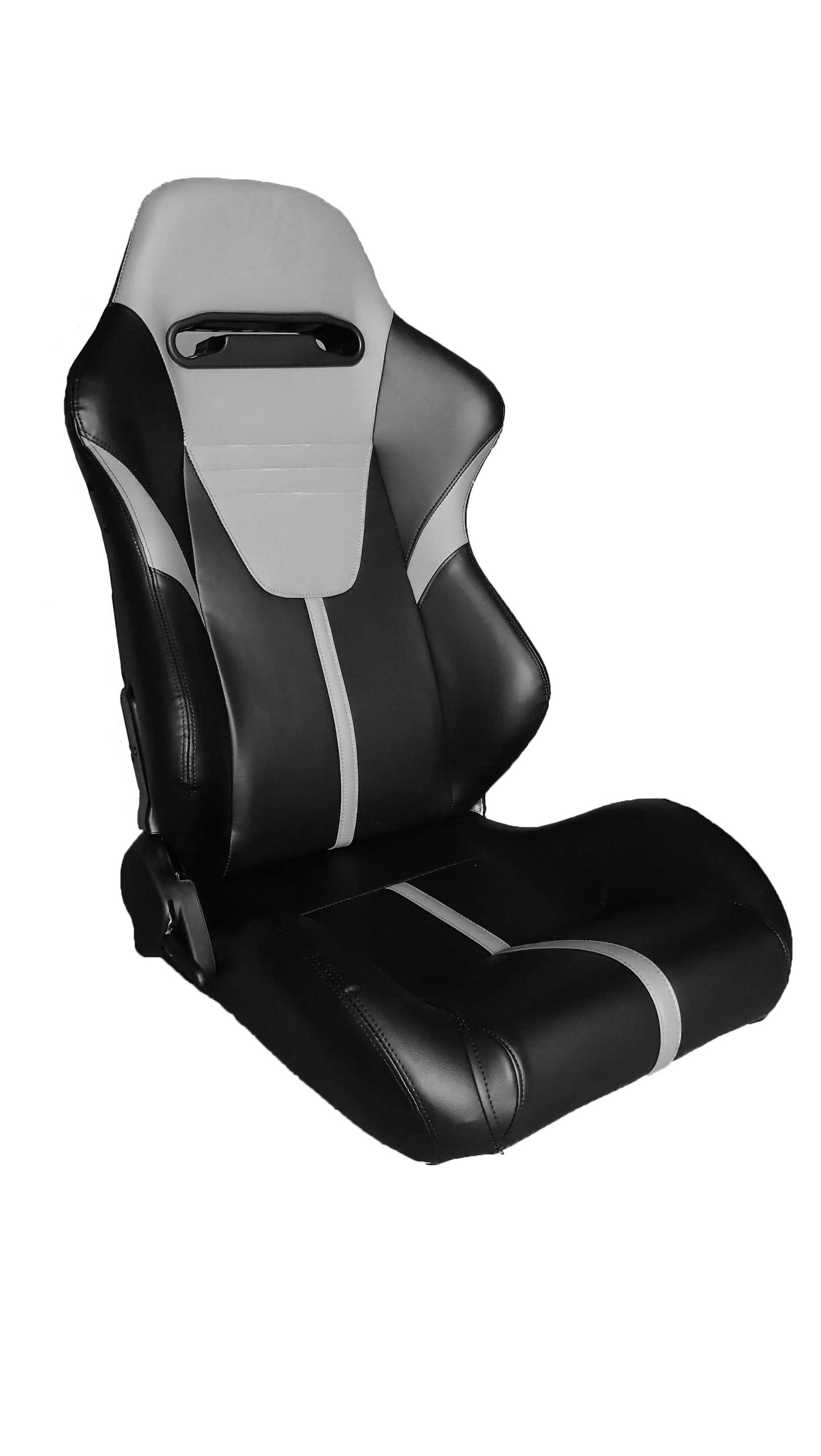 Customized Fashionable Sport Racing Seats With Gray / Black Pvc Leather